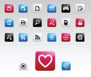 Colori le icone di Web Fotografia Stock