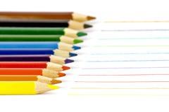 Colori le matite Immagine Stock Libera da Diritti