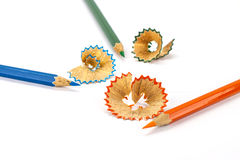 Colori le matite Immagine Stock