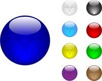 Colori le sfere Fotografia Stock