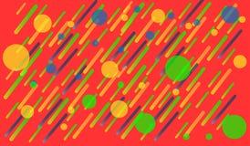 Colori luminosi del fondo geometrico e composizioni dinamiche in forma Illustrazioni di vettore illustrazione di stock