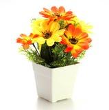 Colori luminosi e bei dei fiori di plastica Immagine Stock