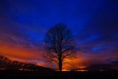 Colori maestosi di tramonto Fotografia Stock Libera da Diritti