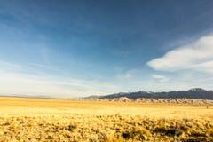 Colori magnifici di grandi parco nazionale delle dune di sabbia e prerogativa, San Luis Valley, Colorado, Stati Uniti fotografia stock libera da diritti