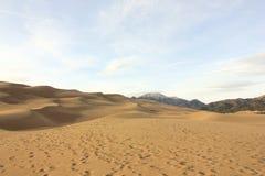 Colori magnifici di grandi parco nazionale delle dune di sabbia e prerogativa, San Luis Valley, Colorado, Stati Uniti immagini stock libere da diritti