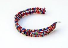 Colori masai del braccialetto Fotografia Stock