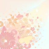 Colori morbidi di disegno floreale Fotografia Stock