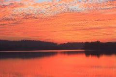Colori naturali di rossore in cielo immagine stock libera da diritti