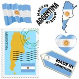 Colori nazionali dell'Argentina Fotografia Stock Libera da Diritti
