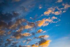 Colori nelle nuvole nell'Alaska fotografia stock libera da diritti