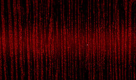 Colori nero-e-rossi di astrazione con straripamento brillante nel centro Immagine Stock
