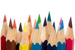 Colori per affilare le matite fotografia stock libera da diritti