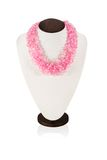 Colori rosa fatti a mano delle collane Fotografia Stock
