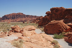 Colori rossi del deserto Fotografie Stock Libere da Diritti