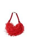 Colori rossi fatti a mano delle collane Immagini Stock Libere da Diritti
