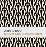 Colori senza cuciture 01 di bianco e dell'oro del nero del modello di Art Deco Fotografie Stock Libere da Diritti