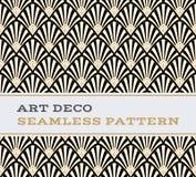 Colori senza cuciture 03 di bianco e dell'oro del nero del modello di Art Deco Fotografia Stock