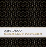 Colori senza cuciture 11 di bianco e dell'oro del nero del modello di Art Deco illustrazione vettoriale