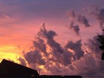 Colori stupefacenti del cielo fotografia stock