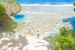 Colori tropicali della barriera corallina, del mare e del cielo Fotografia Stock Libera da Diritti