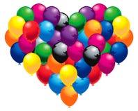 Colorida coração Imagem de Stock Royalty Free