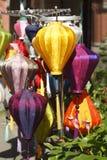 Coloridamente chinês Lampions fotografia de stock