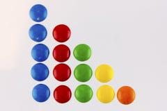 5 4 3 2 1 colorido Imagen de archivo libre de regalías