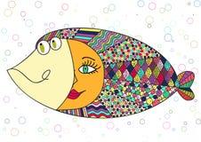 Colorido abstrato dos peixes Fotografia de Stock Royalty Free