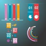 Colorido ajustado do gráfico da informação Fotografia de Stock