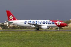 A320 colorido antes da partida Imagem de Stock
