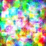 Colorido bohemio divertido abstracto de la caja y del círculo del papel pintado libre illustration