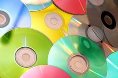 Colorido CD Foto de archivo libre de regalías