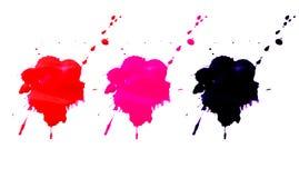 Colorido chapinhar o grupo da aquarela isolado no fundo branco Fotografia de Stock