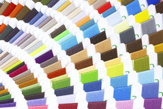 Colorido cosa las muestras de la cuerda de rosca Fotos de archivo libres de regalías
