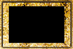 Colorido cristalize a placa amarela e de creme abstrata do fundo Foto de Stock Royalty Free