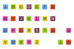 Colorido cubos del ABC Foto de archivo libre de regalías