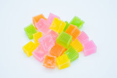 Colorido da geleia friável da sobremesa tailandesa Imagens de Stock
