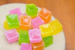 Colorido da geleia friável da sobremesa tailandesa Foto de Stock Royalty Free