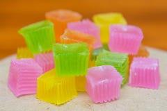Colorido da geleia friável da sobremesa tailandesa Fotos de Stock