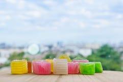 Colorido da geleia friável da sobremesa tailandesa Foto de Stock