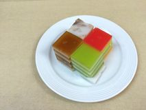 Colorido da geleia friável da sobremesa tailandesa, doce Fotografia de Stock Royalty Free