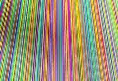Colorido da linha linhas, ilustração 3d Fotografia de Stock Royalty Free
