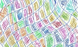Colorido da linha transversal Foto de Stock Royalty Free