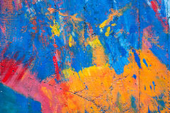 Colorido da parede velha do cimento imagens de stock royalty free