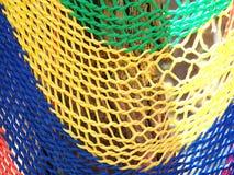 Colorido da rede feita do fim do nylon acima Fotografia de Stock Royalty Free