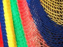 Colorido da rede feita do fim do nylon acima Imagens de Stock