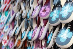 Colorido das sandálias Imagens de Stock Royalty Free