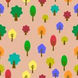 Colorido de árboles en fondo rosado Foto de archivo