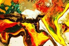 Colorido de aquarela misturada imagens de stock
