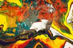 Colorido de aquarela misturada imagens de stock royalty free